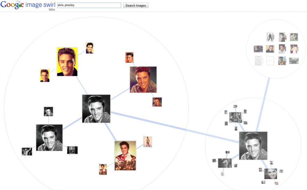 search for elvis on google swirl